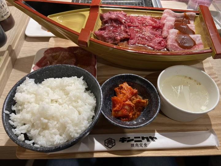 キンニクヤ焼肉定食
