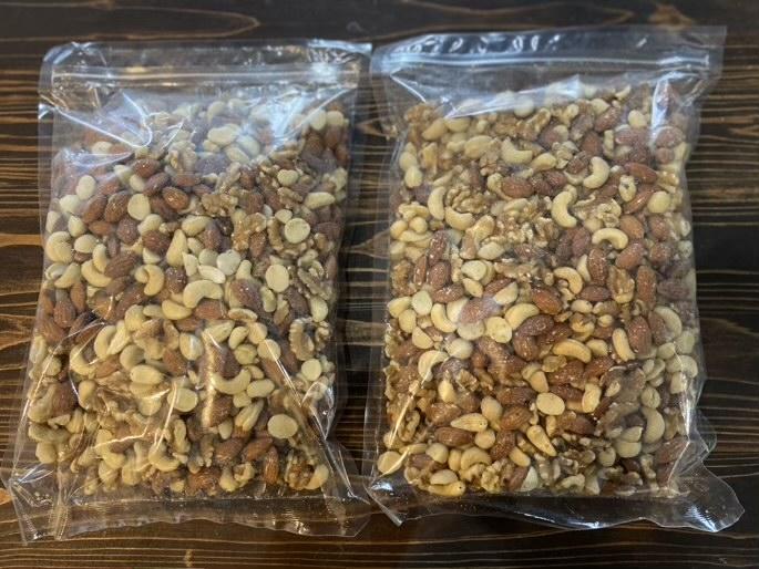 1kgの素焼きミックスナッツが2袋